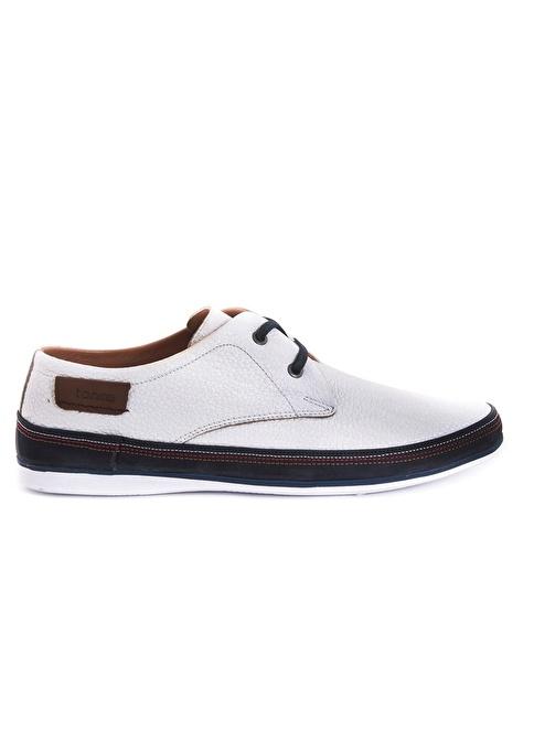 Tanca %100 Deri Bağcıklı Ayakkabı Beyaz